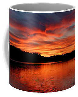 Red Sunset Reflections Coffee Mug