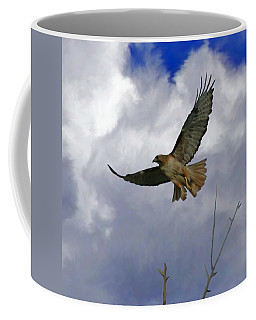 Red Tail Hawk Digital Freehand Painting 1 Coffee Mug