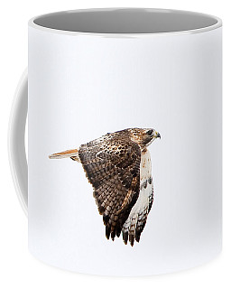 Red Tail In Flight Coffee Mug