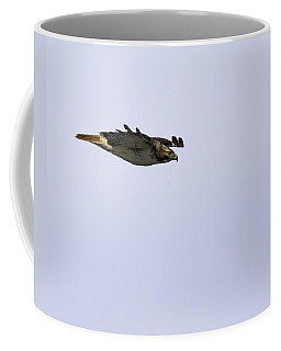 Red-tailed Hawk In Flight 3 Coffee Mug