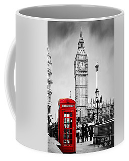 Red Telephone Booth And Big Ben In London Coffee Mug
