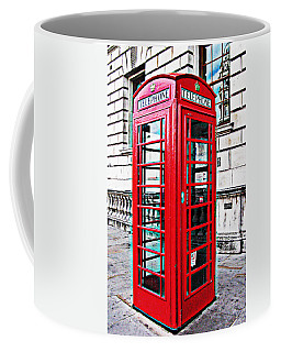 Red Telephone Box Call Box In London Coffee Mug