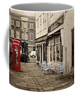 Coffee Mug featuring the digital art Red Telephone Box by Paul Gulliver