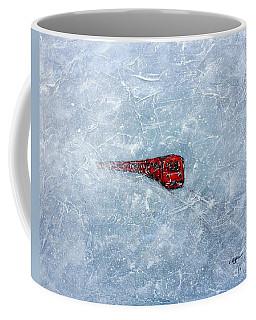 Red Train Braving The Winter Coffee Mug