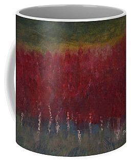 Red Trees Watercolor Coffee Mug