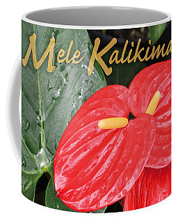 Red Tropical Anthuriums Coffee Mug
