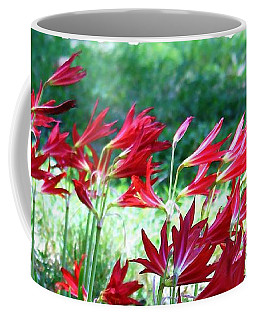 Red Trumpets Coffee Mug by Ellen O'Reilly