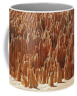 Coffee Mug featuring the photograph red Tsingy Madagascar 1 by Rudi Prott