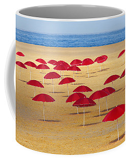 Red Umbrellas Coffee Mug