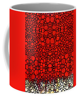 Red Valley - Abstract Landscape Stone Rock'd Art Coffee Mug