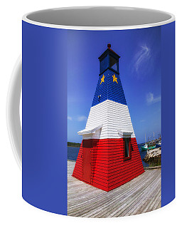 Red White And Blue Lighthouse Coffee Mug