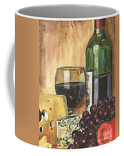 Red Wine And Cheese Coffee Mug by Debbie DeWitt