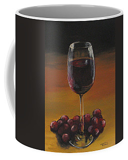 Red Wine And Red Grapes Coffee Mug