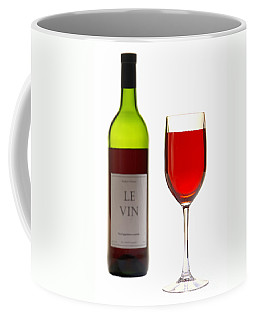 Red Wine Bottle And Glass Coffee Mug