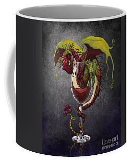 Red Wine Dragon Coffee Mug