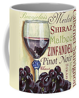 Red Wine Text Coffee Mug