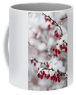 Red Winter Berries Under Snow Coffee Mug