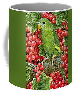 Redcurrant Parakeet Coffee Mug