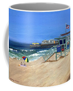 Coffee Mug featuring the painting Redondo Beach Lifeguard  by Jamie Frier