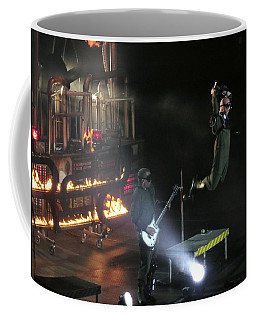 Coffee Mug featuring the photograph Red's Lead Singer Can Fly by Aaron Martens