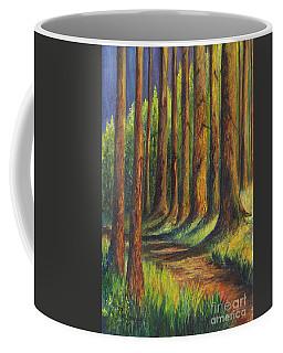 Coffee Mug featuring the painting  Jedediah Smith Redwoods State Park by Carol Wisniewski