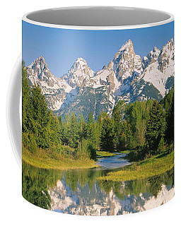 Reflection Of A Snowcapped Mountain Coffee Mug by Panoramic Images