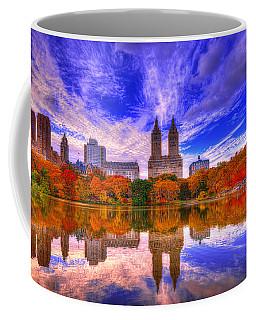 Reflection Of City Coffee Mug by Midori Chan