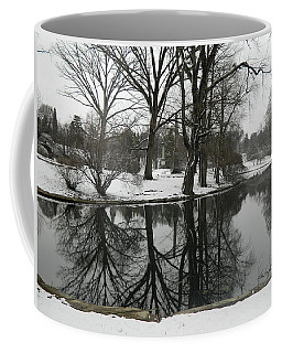 Coffee Mug featuring the photograph Reflection Pond Spring Grove Cemetery by Kathy Barney