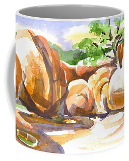 Coffee Mug featuring the painting Reflections At Elephant Rocks by Kip DeVore