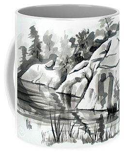 Coffee Mug featuring the painting Reflections At Elephant Rocks State Park No I102 by Kip DeVore
