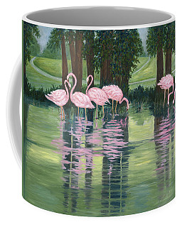 Reflections In Pink Coffee Mug