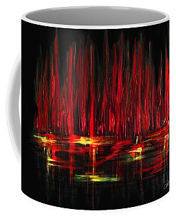 Reflections In Red Coffee Mug by Dani Abbott