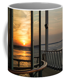 Coffee Mug featuring the photograph Reflections Of A Chesapeake Sunset by Bill Swartwout