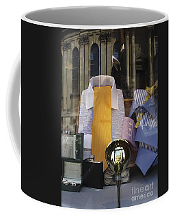 Coffee Mug featuring the photograph Reflections Of A Gentleman's Tailor by Terri Waters