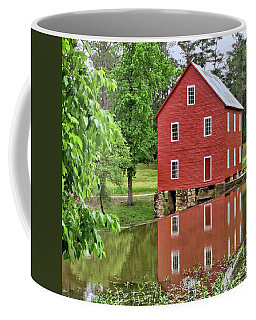 Reflections Of A Retired Grist Mill - Square Coffee Mug