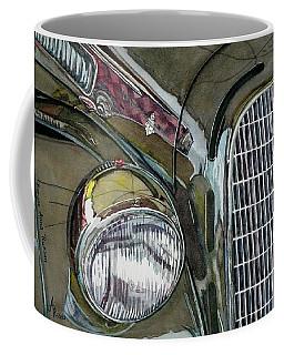 Coffee Mug featuring the painting Reflections On 1931 Alfa Romeo Milano by Anna Ruzsan