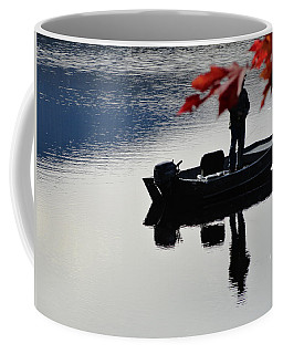 Coffee Mug featuring the photograph Reflections On Fishing by Mike Breau