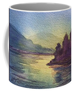 Coffee Mug featuring the painting Reflections On North South Lake by Ellen Levinson