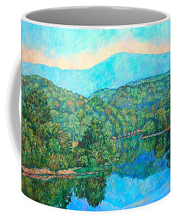 Coffee Mug featuring the painting Reflections On The James River by Kendall Kessler