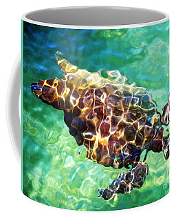 Coffee Mug featuring the photograph Refractions - Nature's Abstract by David Lawson