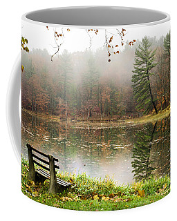 Coffee Mug featuring the photograph Relaxing Autumn Beauty Landscape by Christina Rollo