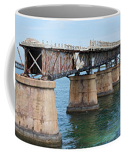 Relic Of The Old Florida Keys Overseas Railroad Coffee Mug by John M Bailey