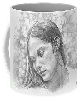 Coffee Mug featuring the drawing Remembered Always by Arthur Fix