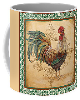 Renaissance Rooster-d-green Coffee Mug by Jean Plout