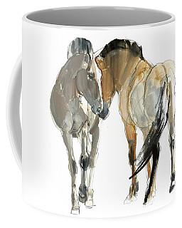 Rencontre Przewalski, 2013, Watercolour And Pigment On Paper Coffee Mug