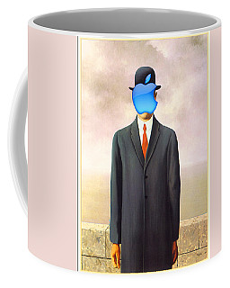 Rene Magritte Son Of Man Apple Computer Logo Coffee Mug by Tony Rubino