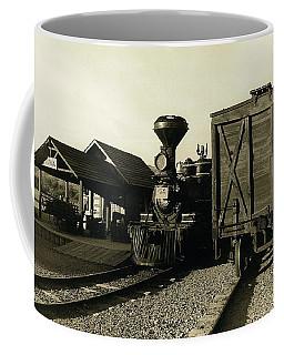 Coffee Mug featuring the photograph Reno Rr Station Old Tucson Arizona by David Lee Guss