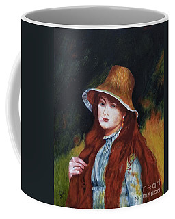 Renoir-young Girl In A Straw Hat Coffee Mug