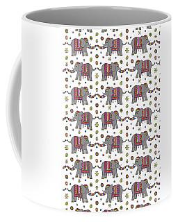 Repeat Print - Indian Elephant Coffee Mug