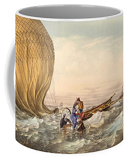 Rescue At Sea Of Downed Balloonists Coffee Mug